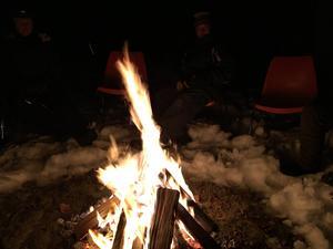 Bonfire at Boulder Lake