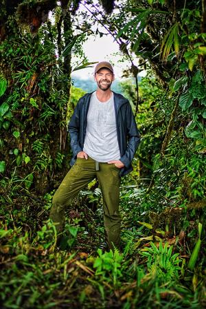 JJ Kelley in the midst of a jungle