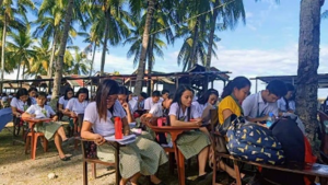 Students at Southern Philippines Agribusiness and Marine and Aquatic School of Technology