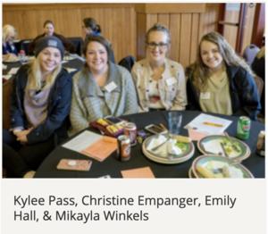 Kylee Pass, Christine Empanger, Emily Hall, & Mikayla Winkels