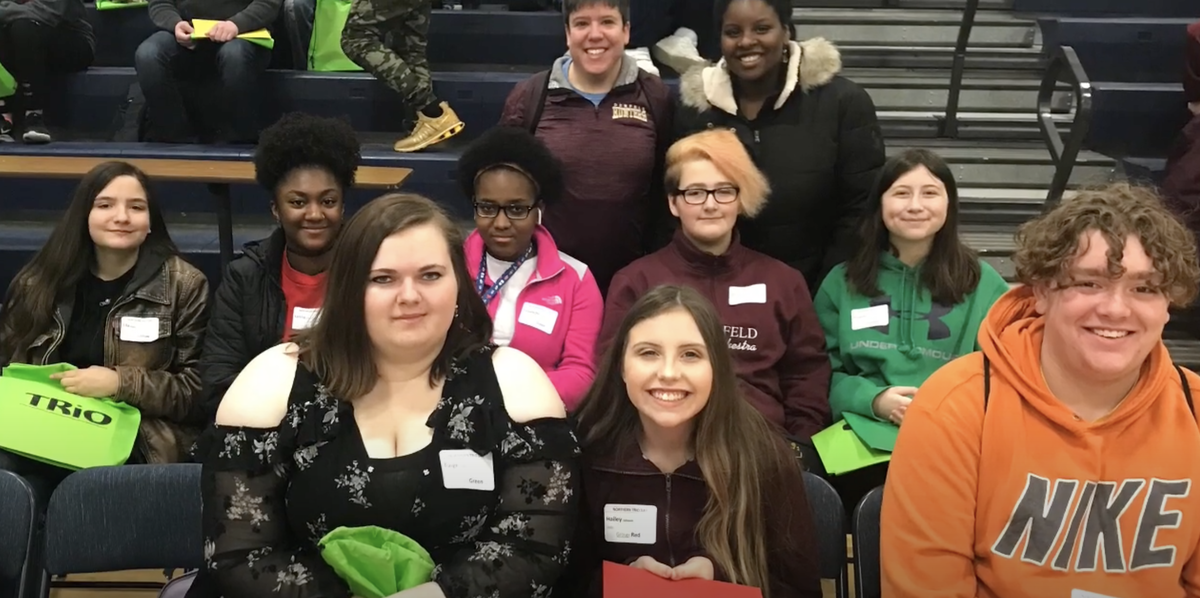 Upward Bound students at an event