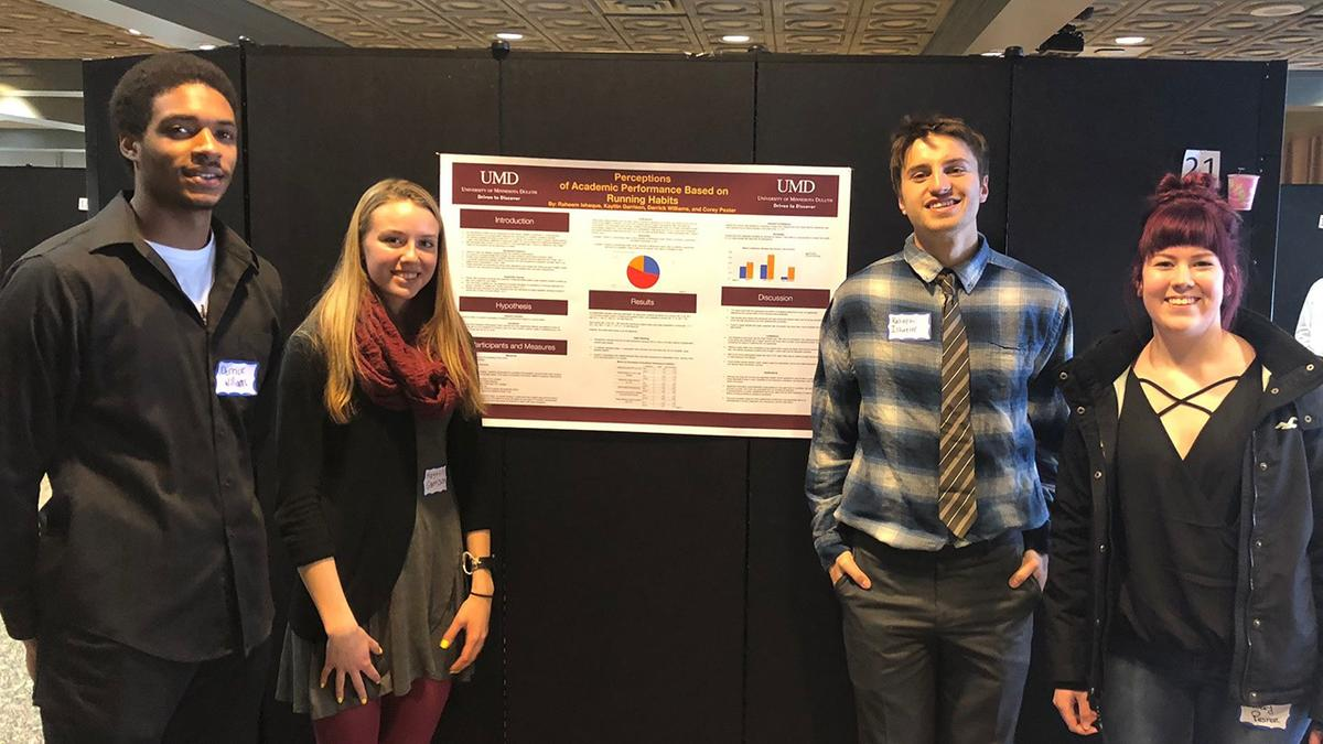 Students presenting at TPUP 2018