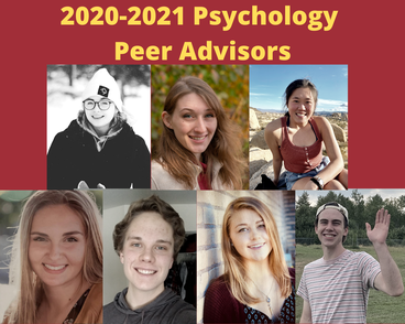 Collage of 2020-2021 Psychology Peer Advisors