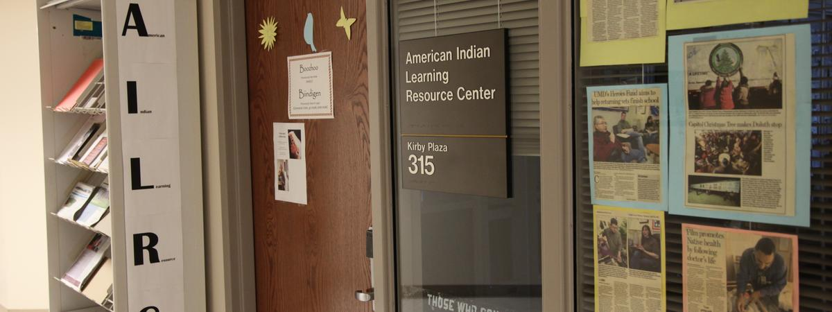 Entrance to American Indian Learning Resource Center