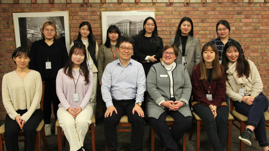 Ewha Womans University Group with CEHSP Dean Jill Pinkney Pastrana