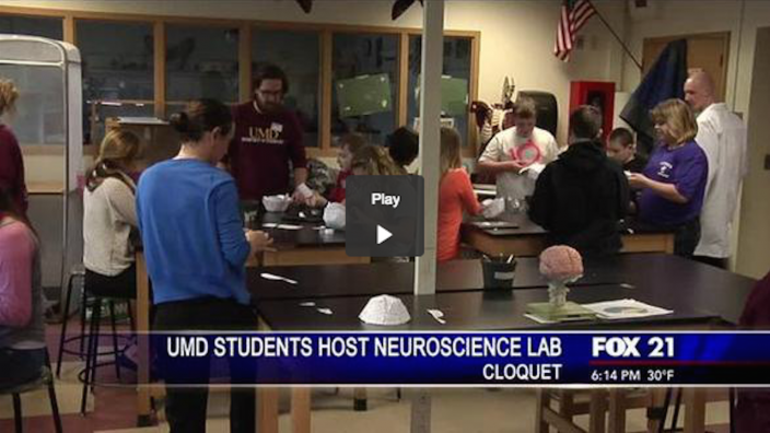 UMD Psychology Students Host Neuroscience Lab for Middle