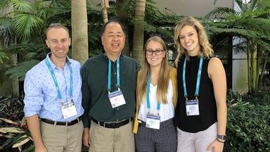 David Bohil, Professor Mark Mizuko, Claire Bieganek, and Cheyenne Bielmeier