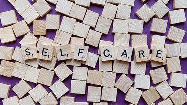 self care spelled out