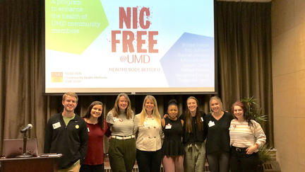 Public health students after their Nic Free at UMD presentation