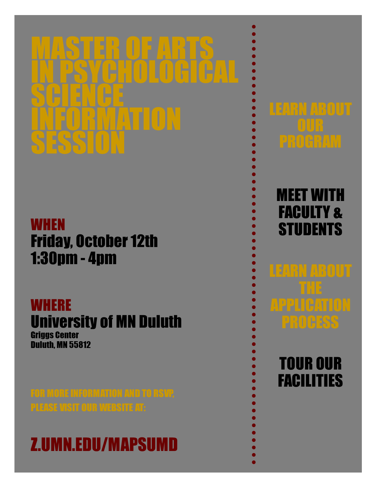 Info Session Poster