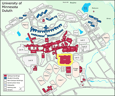 Map of Sports and Health Center Building