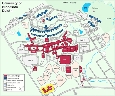 umd duluth campus map Map Directions College Of Education And Human Service umd duluth campus map